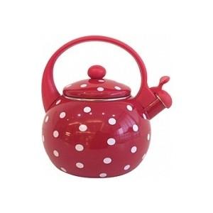 Чайник эмалированный со свистком 2.0 л Appetite Горох (FT7-1)