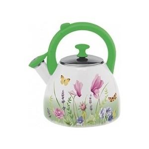 Чайник эмалированный со свистком 2.5 л Appetite Примавера (FT19-PR) чайник appetite гратен фрукты со свистком 3 л