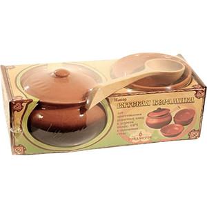 Набор керамической посуды Вятская керамика (НБР КАШ Ч) набор керамических горшков 4 предмета вятская керамика нбр вк 1 4свч