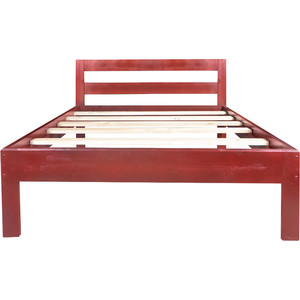 цена на Кровать Экомебель Валенсия массив сосны, красное дерево (160x200)