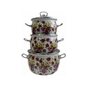 Набор эмалированной посуды 3 предмета Idilia Джулия (I1600) platinor джулия 90241 pla90241