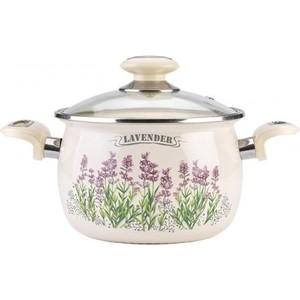 Кастрюля эмалированная 2.5 л Laurel Lavender (L91911) кастрюля laurel lavender 3 5 л