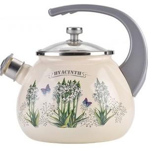 Чайник эмалированный со свистком 2.5 л Laurel Hyacinth (L92711)