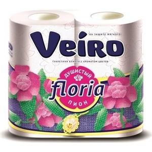 Туалетная бумага Veiro Душистый пион арома 2 слоя 4 рулона
