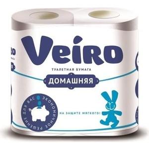 Туалетная бумага Veiro Домашняя, белая, 2х-слойная, 4 рулона