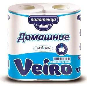 Бумажные полотенца Veiro Домашние белые 2 слоя рулона