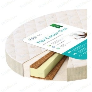 Матрас детский Plitex Flex Cotton Oval 1250х750х100 мм