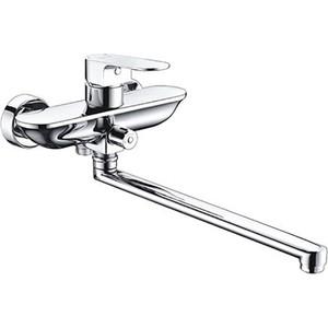 Смеситель для ванны Wasserkraft Dinkel 5800 с длинным изливом (5802L) смеситель для ванны и душа wasserkraft weser 7802l с длинным изливом 9060822