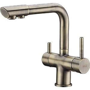 Смеситель для кухни Wasserkraft под фильтр бронза светлая (A8037)