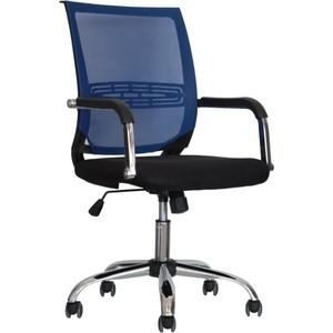 Кресло Стимул-групп CTK-XH-6057 CH black (сиденье черная сетка) / blue (спинка синяя