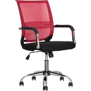 Кресло Стимул-групп CTK-XH-6057 CH black (сиденье черная сетка) / red (спинка красная
