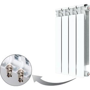 Радиатор отопления RIFAR ALP VENTIL 500 4 секции биметаллический нижнее правое подключение (R50004AVR) радиатор отопления rifar base 350 4 секции