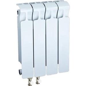 Радиатор отопления RIFAR MONOLIT VENTIL 350 4 секции биметаллический нижнее левое подключение (RM35004НЛ50) биметаллический радиатор rifar monolit ventil mvl 500 07