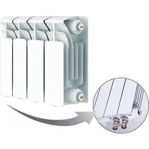 Радиатор отопления RIFAR BASE VENTIL 200 4 секции биметаллический нижнее левое подключение (R20004 НПЛ) радиатор отопления rifar base 350 4 секции