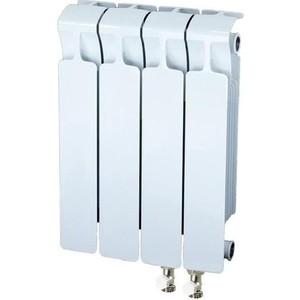 Радиатор отопления RIFAR MONOLIT VENTIL 350 4 секции биметаллический нижнее правое подключение (RM35004НП50) биметаллический радиатор rifar monolit ventil mvl 500 07