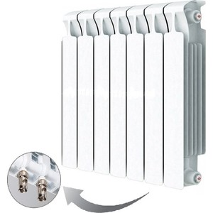 Радиатор отопления RIFAR MONOLIT VENTIL 500 7 секций биметаллический нижнее правое подключение (RM50007НП50)