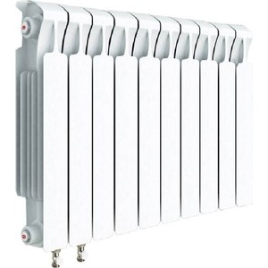 цена на Радиатор отопления RIFAR MONOLIT VENTIL 500 10 секций биметаллический нижнее левое подключение (RM50010НЛ50)