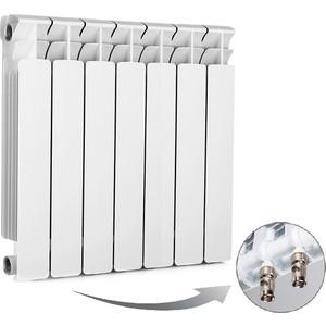 цена на Радиатор отопления RIFAR BASE VENTIL 500 7 секций биметаллический нижнее левое подключение (R50007 НПЛ)