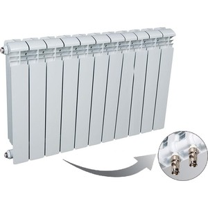 цена на Радиатор отопления RIFAR BASE VENTIL 500 11 секций биметаллический нижнее левое подключение (R50011 НПЛ)