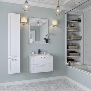 Мебель для ванной Акватон Леон 65 дуб белый aqualife design мебель для ванной aqualife design женева 65