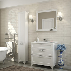 Мебель для ванной Акватон Леон 80 Н дуб белый акватон мебель для ванной акватон логика 110 лен