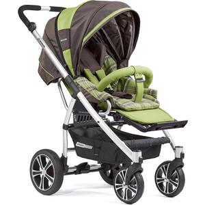 Коляска прогулочная GESSLEIN F4 Air+ накидка на ножки, темно-серый/вкладыш зеленый клетка прогулочная коляска bertoni apollo накидка на ножки зелено серый green