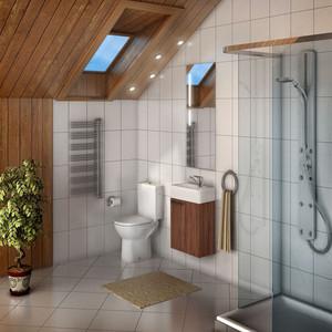 Мебель для ванной Акватон Эклипс 46 эбони темный мебель для ванной акватон эклипс 46 м левая эбони светлый