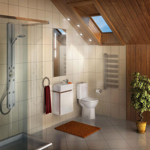 Мебель для ванной Акватон Эклипс 46 М правая, эбони светлый мебель для ванной акватон эклипс 46 м левая эбони светлый