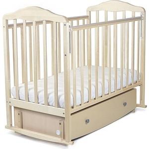обычная кроватка 120x60 вдк magico mini берёза Кроватка СКВ Компани Березка поперечный маятник закрытый ящика берёза 123005/3005