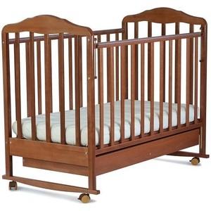 Кроватка СКВ Компани Березка 121117 колесо качалка с ящиком орех 121117 кроватка гандылян дашенька колесо качалка белый