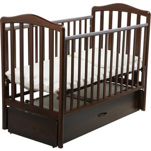 Кроватка Papaloni Винни маятник шоколадный орех 120х60 OF000027564
