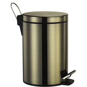 Ведро для мусора Wasserkraft Exter K-5200 с педалью 5 л, светлая бронза (K-645)