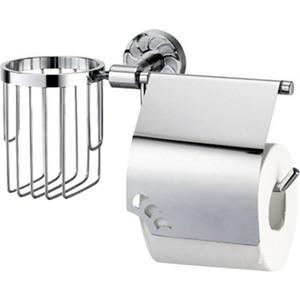 Держатель туалетной бумаги и освежителя Wasserkraft Isen K-4059 с крышкой wasserkraft isen k 4025 держатель туалетной бумаги с крышкой