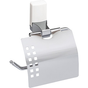 Держатель туалетной бумаги Wasserkraft Leine K-5025WHITE с крышкой держатель для туалетной бумаги wasserkraft leine k 5025