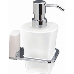 Дозатор для жидкого мыла Wasserkraft Leine K-5099WHITE стекло матовое цена