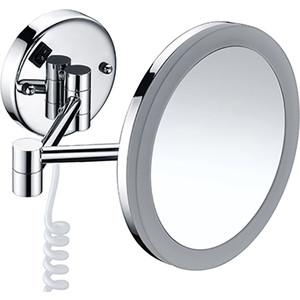 Зеркало косметическое Wasserkraft K-1004 с подсветкой, 3-х кратное увеличение зеркало с led подсветкой wasserkraft k 1007 9061824