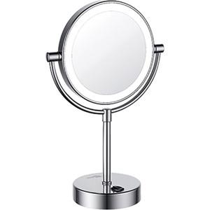 Зеркало косметическое Wasserkraft K-1005 с подсветкой, 3-х кратное увеличение зеркало с led подсветкой wasserkraft k 1007 9061824