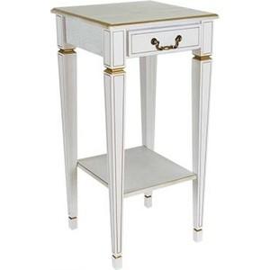 Подставка Мебелик Васко В 46Н белый ясень/золото цены онлайн