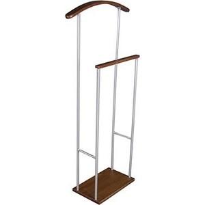 Вешалка костюмная Мебелик Верис 2 металлик/средне-коричневый
