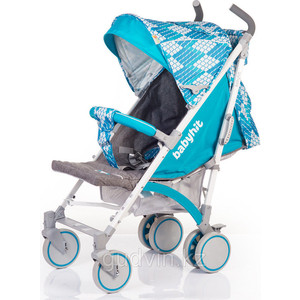 Коляска прогулочная BabyHit Rainbow Rhombus Blue17
