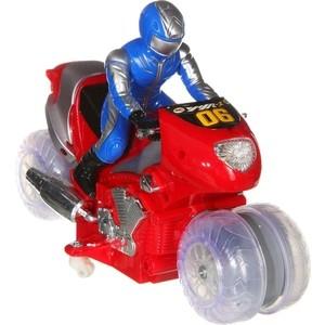 Радиоуправляемый мотоцикл Full Funk с гонщиком аккум./адапт. (муз.,свет) 2 цв. SY380 - М31642