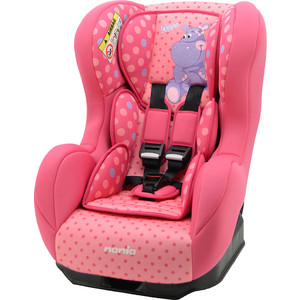 Автокресло Nania Cosmo Sp 0-18кг Animals Hippo Fushia розовый 086135