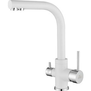 Смеситель для кухни Paulmark Essen (Es213011-431) матовый белый смеситель для кухни с подключением к фильтру paulmark essen es213011 431