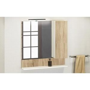 Зеркало-шкаф Comforty Рига 80 дуб сонома (4139024) цена в Москве и Питере