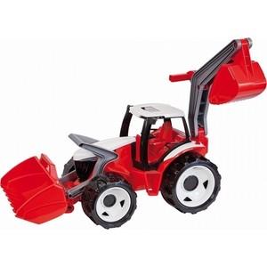 Игрушечная машинка Lena Трактор с грейдером и ковшом в подарочной упаковке красн.-бел. син.-бел. 107 см (2081) трактор инерционный с ковшом 33 см bt763210 kari