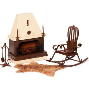 Кукольная мебель Огонек Набор для каминной комнаты Коллекция (С-1301)