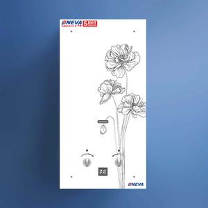 Газовая колонка NEVA 4510 Glass (серебро цветок черн) газовая колонка neva 4506