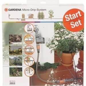 Комплект микрокапельного полива Gardena (01373-20.000.00) система полива поливчик pl24 30 капельная лента 24 м шаг капельниц 30 см