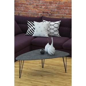 Столы журнальные Калифорния мебель Престон серый бетон фото