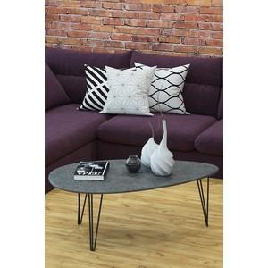 Столы журнальные Калифорния мебель Шеффилд Серый бетон